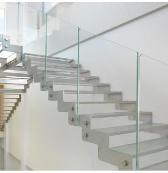 Escalier crémaillère inox et verre Fulmine 090