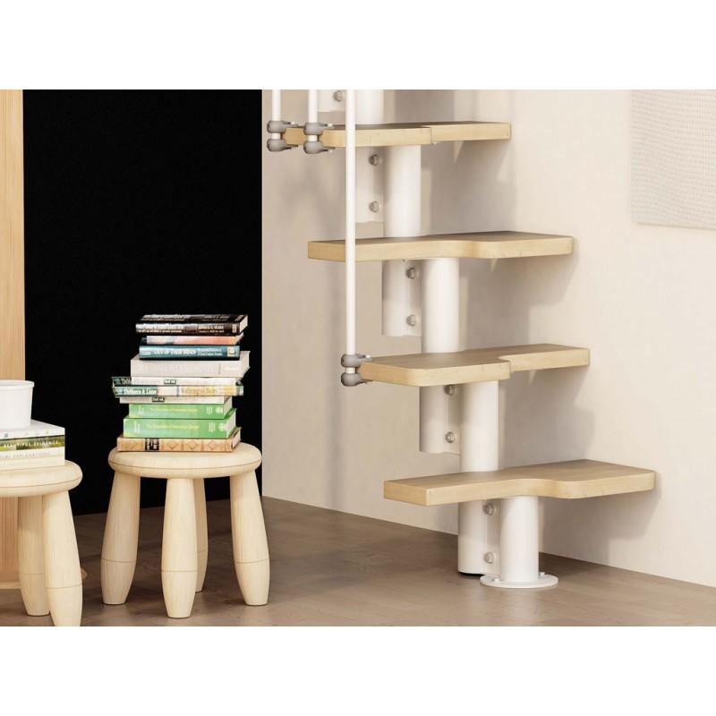 escalier pas d cal fontanot zip o id al pour les petits espaces. Black Bedroom Furniture Sets. Home Design Ideas