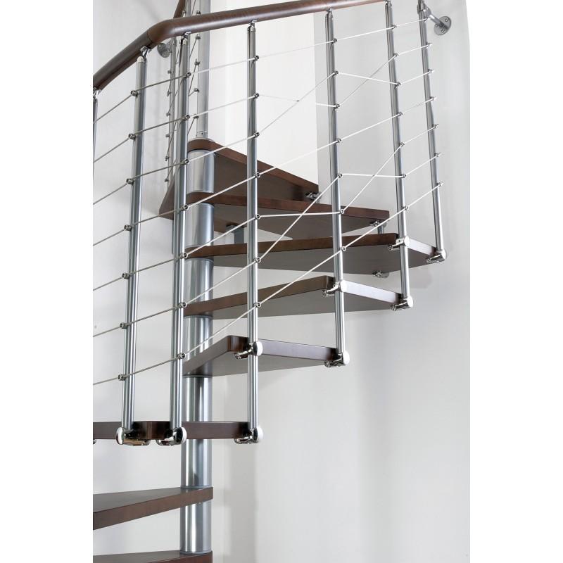 Escalier Colimacon Carre En Kit Fontanot Elegance A Cable Bois Metal