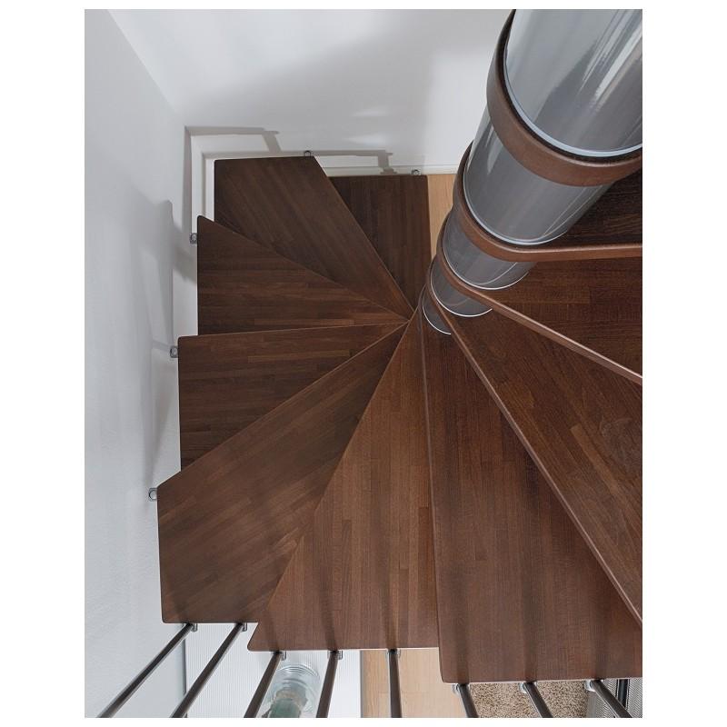 Escalier Colimacon Carre En Kit Fontanot Elegance Bois Et Metal
