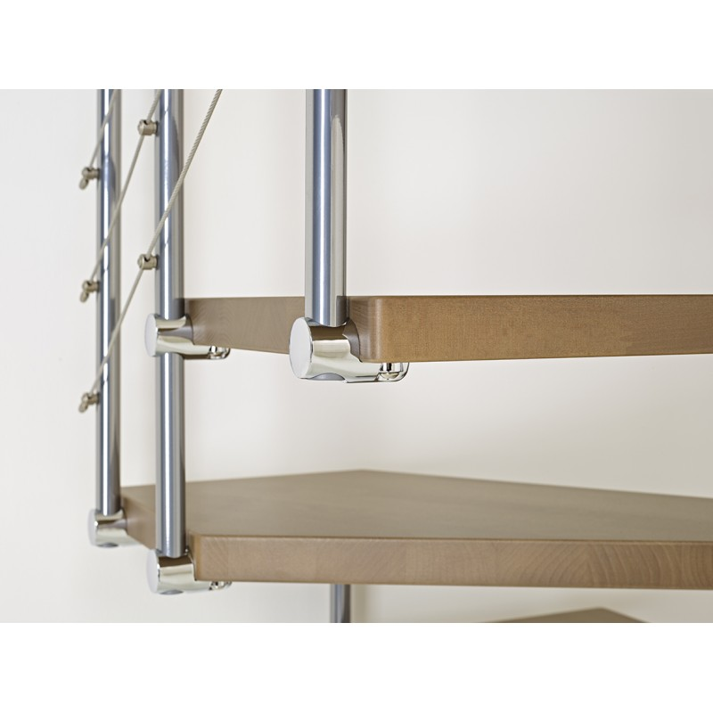 escalier colima on carr en kit fontanot elegance c ble bois m tal. Black Bedroom Furniture Sets. Home Design Ideas