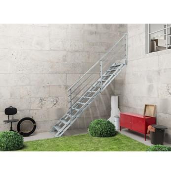 Escalier extérieur droit Pop Zink