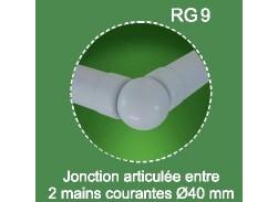 Raccord main courante réglable pour Rondo RAL 7037
