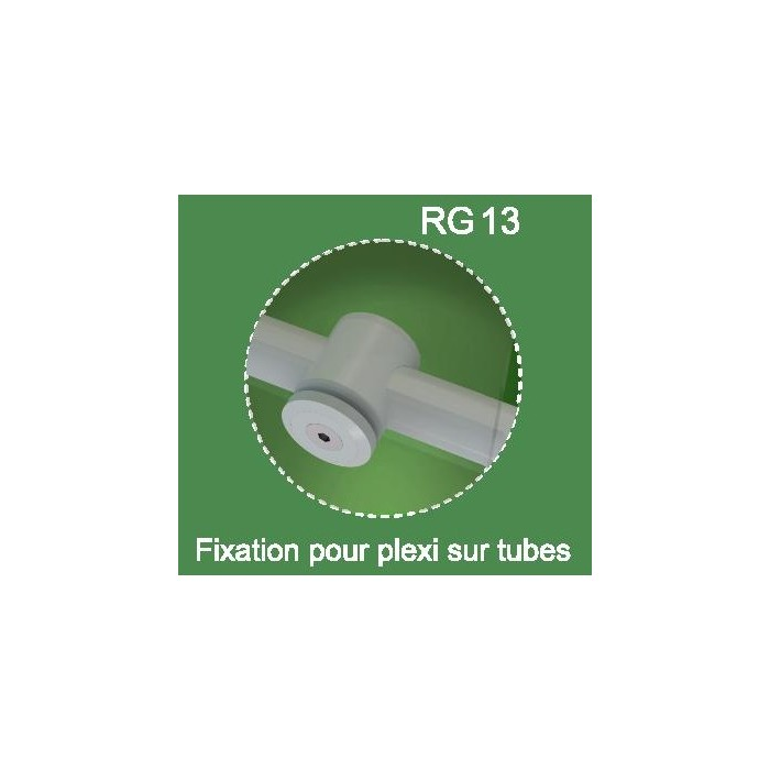 Fixations plexi sur lisses Rondo RAL 7037
