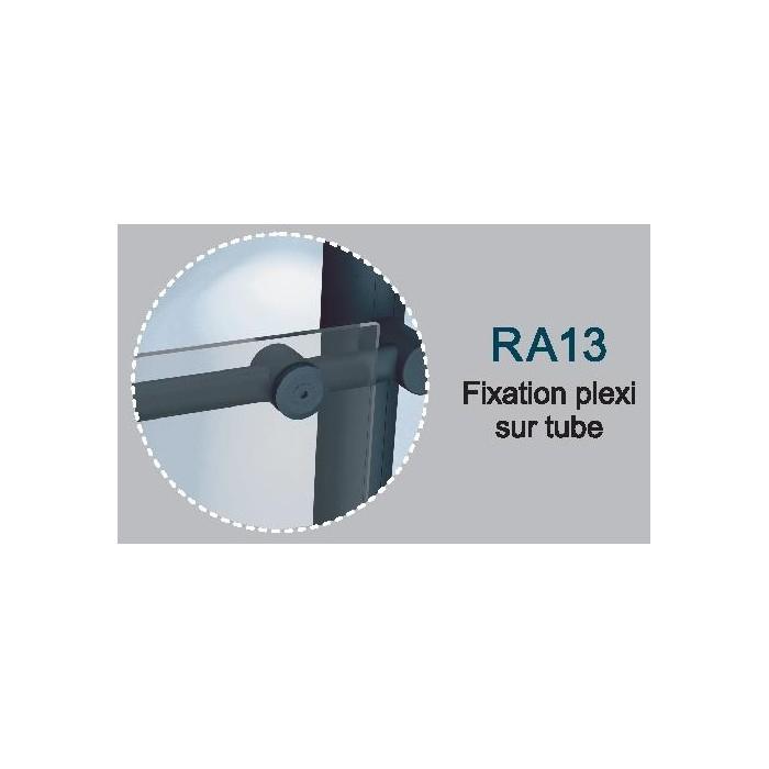 Fixations plexi sur lisses Rondo RAL 7016