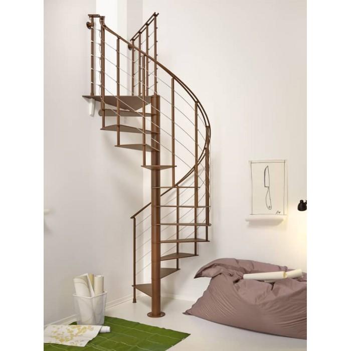 Escalier colimaçon Fitness corten
