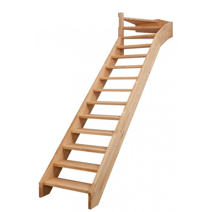 Escalier droit et tournant bois Bruges