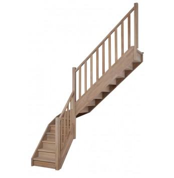 Escalier droit et tournant bois Gand