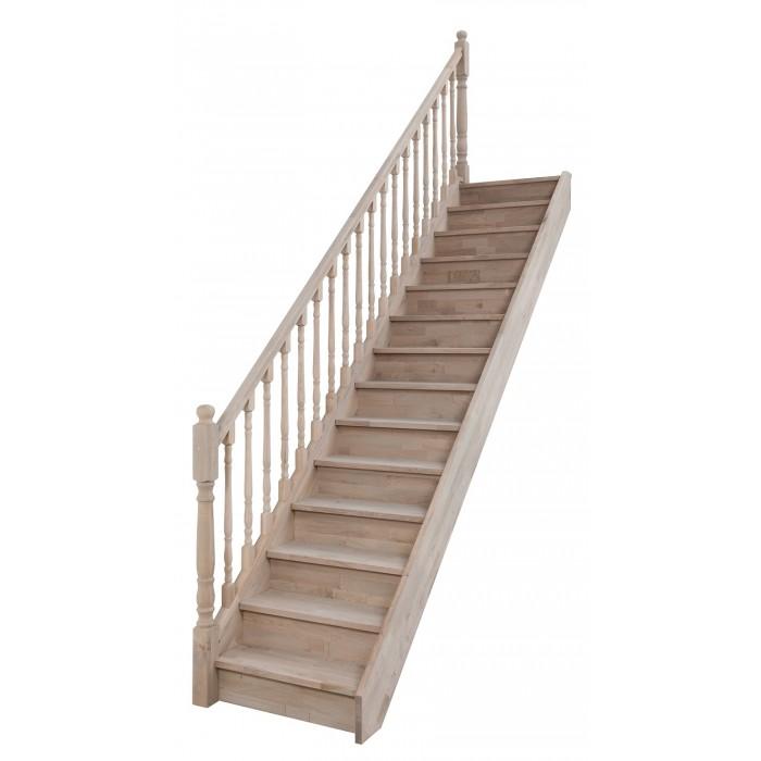 Escalier Sur Mesure Bois Liege Avec Garde Corps Finition Bois Tourne