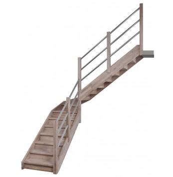 Escalier droit et tournant bois Anvers