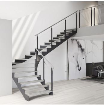 Escalier crémaillère mixte Hossegor