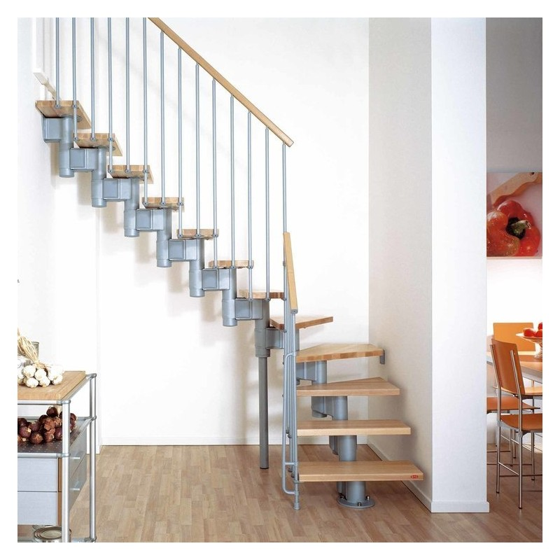Escalier Droit Et Tournant Kompact Arke En Kit Escalier