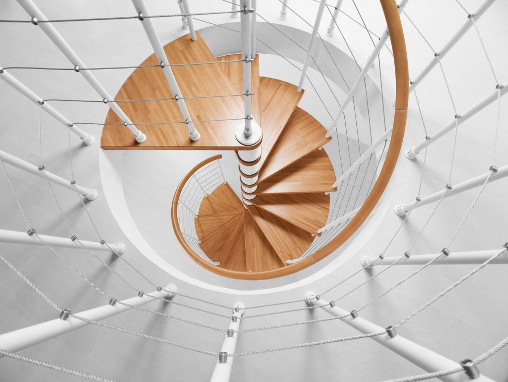 superposer deux escaliers colimaçon